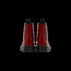 Anfibi rossi vernice, tacco basso, Scarpe, 122801501VEROSS, 003 preview