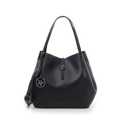 Maxi-bag nera in eco-pelle, Borse, 145786775EPNEROUNI, 001 preview