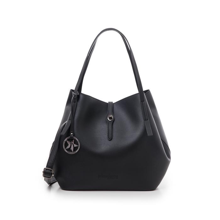 Maxi-bag nera in eco-pelle, Borse, 145786775EPNEROUNI