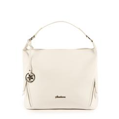 Maxi-bag de ecopiel en color blanco, Bolsos, 153783218EPBIANUNI, 001a