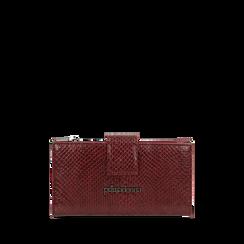 Portafogli bordeaux stampa vipera , Primadonna, 165122158EVBORDUNI, 001a