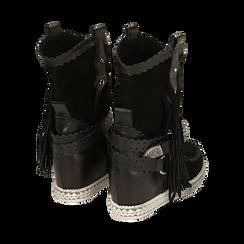 CALZATURA TRONCHETTI CAMOSCIO NERO, Chaussures, 15A220102CMNERO036, 004 preview