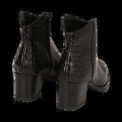 Camperos neri in pelle, tacco 6 cm , Stivaletti, 141612965PENERO036, 004 preview