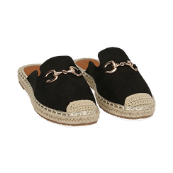 Slippers nere in microfibra, Chaussures, 154951159MFNERO, 002 preview