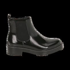 Chelsea boots noires abrasives, Primadonna, 160685073ABNERO036, 001 preview