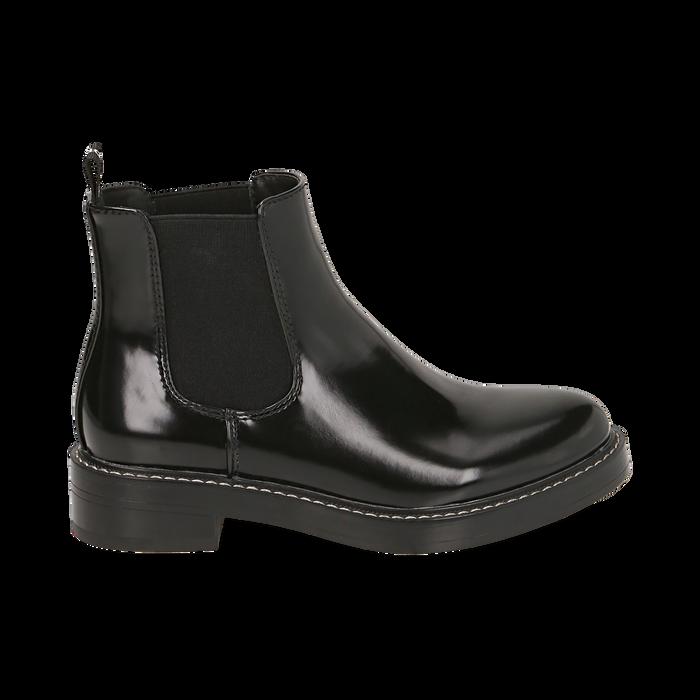 Chelsea boots noires abrasives, Primadonna, 160685073ABNERO036