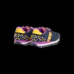 Sneakers blu color block, Primadonna, 122618834MFBLUE035, 005 preview