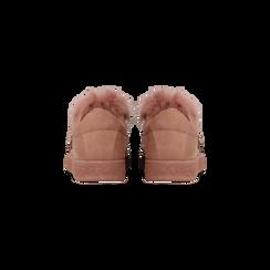 Sneakers rosa nude slip-on con dettagli faux-fur e borchie, Primadonna, 129300023MFNUDE036, 003 preview