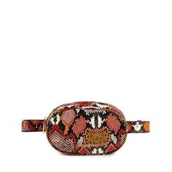 Riñonera en eco-piel con estampado de serpiente color negro/rojo, Bolsos, 155100843PTNERSUNI, 001a