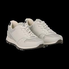 Sneakers bianche glitter,