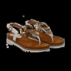 Sandali infradito bianchi in eco-pelle con suola bianca, Primadonna, 134922304EPBIAN035, 002 preview
