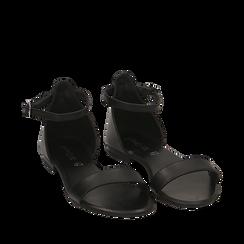 Sandales en cuir noir, Primadonna, 15K903944PENERO036, 002a