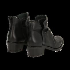 Camperos neri in vera pelle con elastici, tacco 4,5 cm, Scarpe, 131612461PENERO037, 004 preview