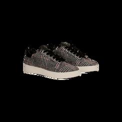 Sneakers Tweed con tacco basso, Primadonna, 122915602TSNEGR035, 002