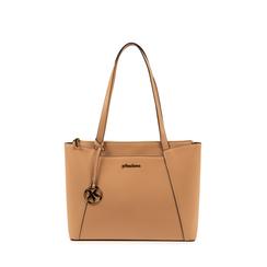 Maxi-bag nude in eco-pelle, Primadonna, 155768941EPNUDEUNI, 001a