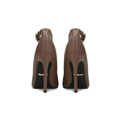 Décolleté taupe con cinturino, tacco stiletto 11 cm, Primadonna, 122182062EPTAUP, 003 preview
