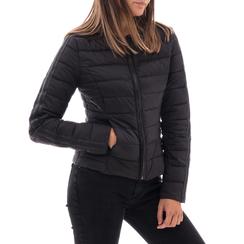 Piumino nero in nylon, Abbigliamento, 146511662NYNERO3XL, 001 preview