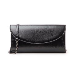 Pochette nera in laminato, Borse, 145122502LMNEROUNI, 001 preview