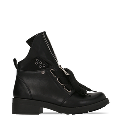 Anfibi Combat Boots neri, tacco basso, 12A782732EPNERO041, 001a