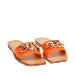 Pantuflas de lycra naranja, 174997222LYARAN035, 002a