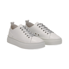 Sneakers bianche in eco-pelle, Scarpe, 132500778EPBIAN036, 002 preview