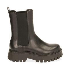 Chelsea boots noires, talon 5,5 cm , Primadonna, 180614805EPNERO035, 001a