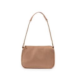Petit sac porté épaule beige en microfibre, Primadonna, 155127201MFBEIGUNI, 001a