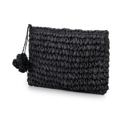 Pochette mare nera in paglia intrecciata, Primadonna, 134504239PGNEROUNI, 004 preview