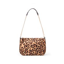 Borsa a tracolla leopard in microfibra, Borse, 145127201MFLEMAUNI, 003 preview