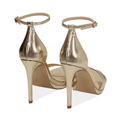 Sandali oro laminato, tacco 11,5 cm, Primadonna, 172133410LMOROG038, 004 preview