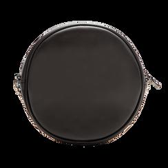 Borsa a tracolla nera in ecopelle, Primadonna, 122323008EPNEROUNI, 002 preview