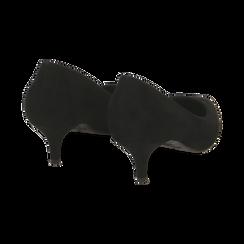 Décolleté nere in microfibra, tacco 5,50 cm , Primadonna, 162187131MFNERO035, 004 preview