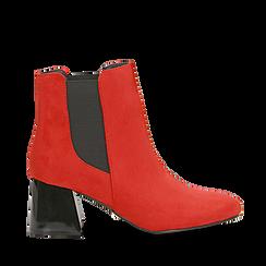 Tronchetti rossi con tacco scultura laccato 6 cm, Primadonna, 122707127MFROSS036, 001a