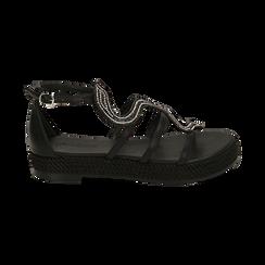 Sandali neri in laminato, Primadonna, 154965221EPNERO036, 001 preview