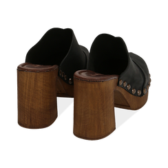 Clogs neri in nabuk , Chaussures, 154304861NBNERO036, 004 preview