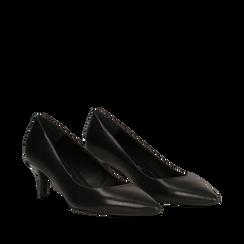 Décolleté nere Kitten heels, tacco 3 cm, Primadonna, 12D617210VINERO036, 002a