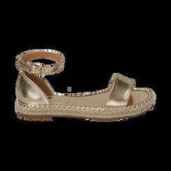 Sandali oro laminato, Scarpe, 154913061LMOROG, 001 preview