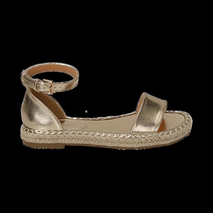 Sandali oro laminato, Scarpe, 154913061LMOROG