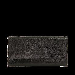 Portamonete nero in laminato, Borse, 143731611LMNEROUNI, 001a