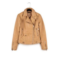 Biker jacket beige in eco-pelle, NUOVI ARRIVI, 156507781EPBEIGL, 003 preview