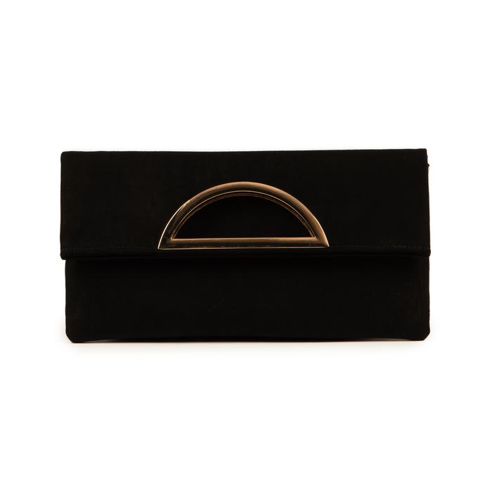 Pochette estensibile nera in microfibra, GIFT IDEAS, 165108717MFNEROUNI