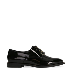 Stringate derby vernice nera tacco basso, Scarpe, 120618121VENERO036, 001a
