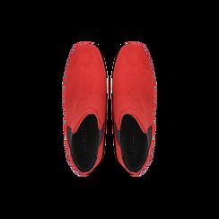 Tronchetti rossi con tacco scultura laccato 6 cm, Primadonna, 122707127MFROSS036, 004 preview
