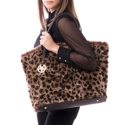 Borsa leopard in eco-fur, Borse, 141918831FULEMAUNI, 002 preview