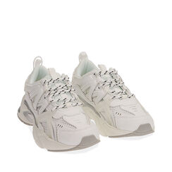 Sneakers bianco/argento , Scarpe, 17E900045EPBIAR035, 002a
