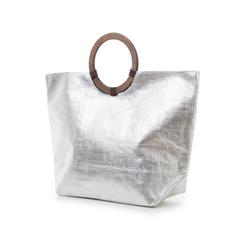 Borsa mare argento in paglia, Primadonna, 119061679PGARGEUNI, 004 preview
