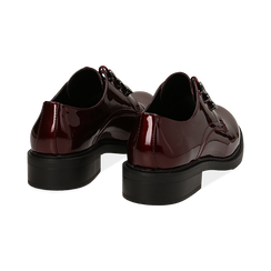 Stringate bordeaux in vernice, Scarpe, 14A776153VEBORD035, 004 preview