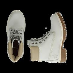 Scarponcini bianchi in nabuk, Promozioni, 16H220021NBBIAN, 003 preview