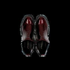 Chelsea Boots bordeaux vernice, lavorazione Duilio, Scarpe, 120618206VEBORD, 004 preview