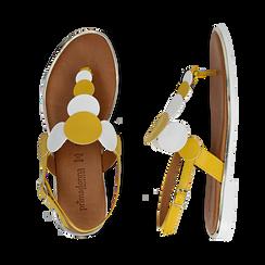 Sandali flat gialli in eco-pelle, Primadonna, 136102170EPGIAL036, 003 preview